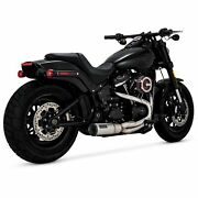 Vance And Hines Stainless Hi-output 2-into-1 Exhaust System Harley Softail M8 And03918+