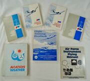 Lot 7 Vintage Piper Aviation Aircraft Flying Pilotand039s Training Books Air Manuals
