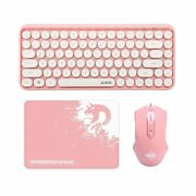 Wireless Bluetooth Keyboard And Wired Mouse Combo84-key Typewriter Mini Port...