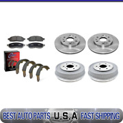 For 2007-2008 Gmc Sierra 1500 Brake Rotors And Metallic Pads + Brake Drums And Shoes