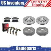 For 2010-2013 Gmc Sierra 1500 Front Brake Rotors And Pads + Rear Drums And Shoes