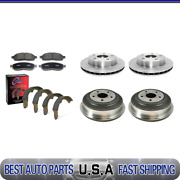 For 2005-2008 Dodge Dakota Front Brake Rotors And Pads + Rear Drums And Shoes