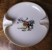 Lenox Ashtray Greetings From Rip-roarin West Donkey Fart Comic By Cooper Rare