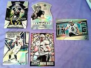 5dif Drew Brees All Silver Prizm Refractor 2015 Air Marshals Hype Staind Glass