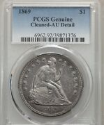 1869 Seated Liberty Silver Dollar 1 Very Rare Issue