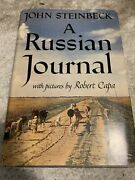 A Russian Journal John Steinbeck 1st Edition Auographed By Steinbeck
