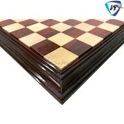 23 Chess Board Bud Rosewood And Maple - Big Size- Step Border Inlaid Square 60mm