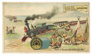 Belding Bros Train Derailed By Thread 1880and039s Trade Card