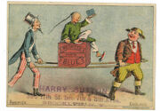 Uncle Sam Reckitts Paris Blue Laundry Detergent 1880's Trade Card