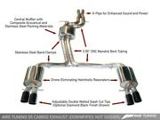 Awe Tuning Touring Edition Exhaust System Fits 13-17 Audi S5 - Polished Silver