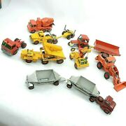 Vintage Toy Trucks And Tractors - Lot Of 8 Vehicles King Size Matchbox