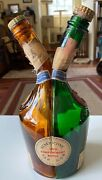 Vintage Empty French Benedictine Two Compartment Bandb Liquor Bottle S.a. Fecamp