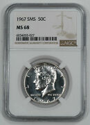 1967 Sms Kennedy Half Dollar 50c Ngc Certified Ms 68 Mint State Unc 027