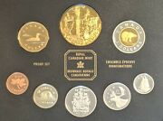 Canada 2002 Proof Set / Queen Dollar Gold Plated - 8 Coins Incl 5 Silver Coins