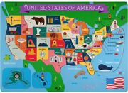 United States Of America Wooden Jigsaw Puzzle Board, Usa Map Puzzle Fun Learning