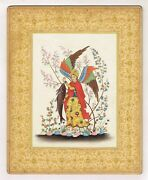 Persian Miniature Painting Persian Angel Raphael Finest Real Gold And Gouache Art