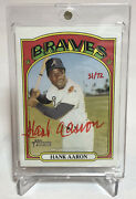 2021 Topps Heritage Hank Aaron Real One Autograph Red Ink 31/72 Last Auto Ssp