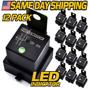 12 Pk Relay Fits 896h-1ch-d1sf-t Song Chuan W/diode Waterproof W/led Indicator