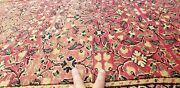 Exquisite Antique 1940s Wool Pile Natural Color Legendary Hereke Rug 6'6×9'9