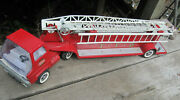 Tfd Tonka Fire Department Vintage Ladder Fire Truck W/trailer For Parts As Is
