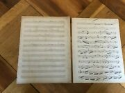 Francois Borne Autograph Score Hamlet Fantaisie Oboe Year 1881 Unissued And Signed
