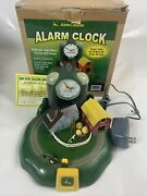 Vintage John Deere Moving Tractor And Sounds Farm Alarm Clock Ac Adapter
