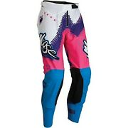 Moose Racing Pink/blue/purple Agroid Pants For Offroad Motocross - Men's Sizes