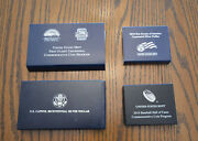 Four Proof And Bu Silver Half And Dollar Commemorative Coins Baseball Scouts ++