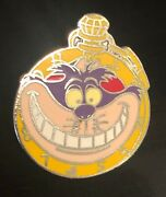 Disney Pin Cheshire Cat Alice Watch Collection Hidden Mickey Lanyard 2007