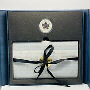 1998 125th Ann Of Royal Canadian Mounted Police 1oz Silver Maple Coin Stamps Set