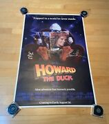 Lea Thompson And Ed Gale Signed 27x40 Movie Poster Howard The Duck Coa 2