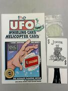 Houdiniand039s Ufo Whirling Helicopter Card Magic Trick Disneyland Nwt