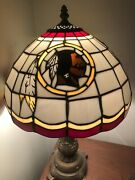 """Washington Redskins Heavy Duty Stained Glass Lamp 19"""" Tall Nfl Football Vintage"""