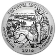 2016 5 Oz Silver Atb Theodore Roosevelt National Park In Airtight Capsule