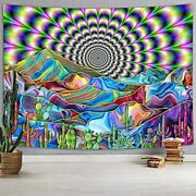 Big Trippy Tapestry Extra Large Very Psychadelic For Bedroom Vibrant Huge Wall A