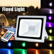 100w 50w 30w Rgb Led Flood Light Outdoor Color Changing Lights W/ Remote Control