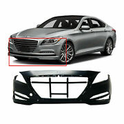 Front Bumper Cover For 2015-2016 Hyundai Genesis W/parking Aid Holes Hy1000209