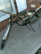 Vintage 26and039and039 Boys Schwinn Corvette Bicycle Green In Color Late 50and039