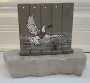 Banksy Walled Off Hotel - Peace Dove Original Large Wall Section Rare