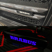 Mb G-wagon G63 G55 G500 W463 Abs Front Grille Badge Blue Led