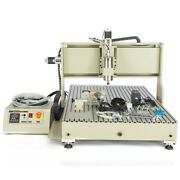 Usb Cnc6090 Router 4 Axis Engraver Wood Carving Mill 3d Machine 2.2kw Controller