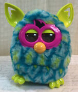 Hasbro 2012 Furby Boom Lightning Bolt - Teal Lime Green Pink- Works Perfectly