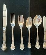 Gorham Chantilly Sterling Silver Set For 4 With 6 Pieces Per Setting