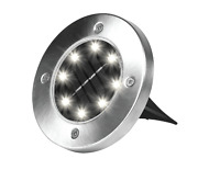 Bell + Howell Solar Powered 8 Led Outdoor Disk Lights - Round And Square 4 Pack