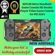 Rs3128 Retro Handheld Game Console Hd Double Player Video Game Console Ps1 Kids