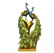 Traditional Chinese Peacock Couple Sculpture Lovers Peacock Statue