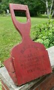 Antique Primitive Cranberry Scoop Orig Red Paint And Stenciling
