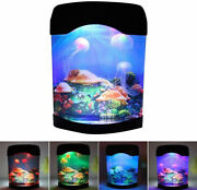 Led Jellyfish Lamp Aquarium Bedside Night Light Mood Light With 5 Color Changing