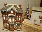 Signed Lefton Christmas Colonial Village Real Estate Office 01006 1993 Light Up