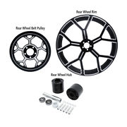 18 X 5.5and039and039 Rear Wheel Rim And Hub And Belt Pulley Sprocket Fit For Harley Flhr 08-21